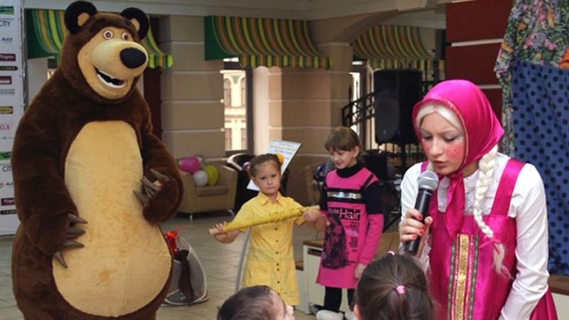 Детские праздники с медведем